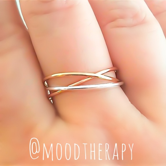 Moodtherapy Jewelry - Tri-Color Trinity Ring - Russian Wedding Ring